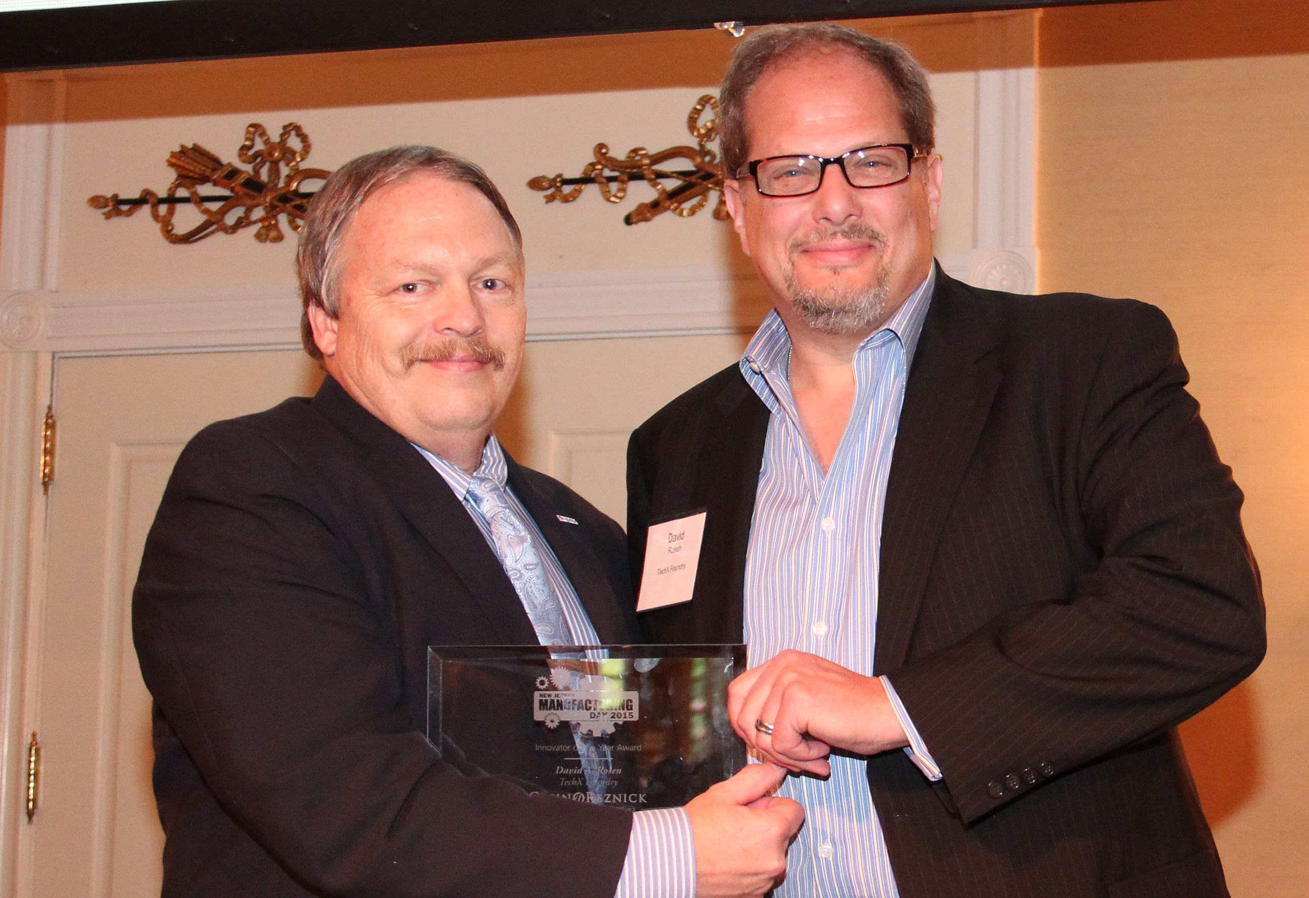 John Kennedy CEO NJMEP and David A. Rosen, Innovator of the Year 2015